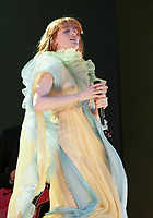 Florence and The Machine, Performing live on stage at Barclay card, BST Summertime, Hyde Park London. 13.07.19