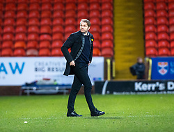 Dundee United's manager Robbie Neilson at the end. Dundee United 1 v 1 Partick Thistle, Scottish Championship game played 7/3/2020 at Dundee United's stadium Tannadice Park.