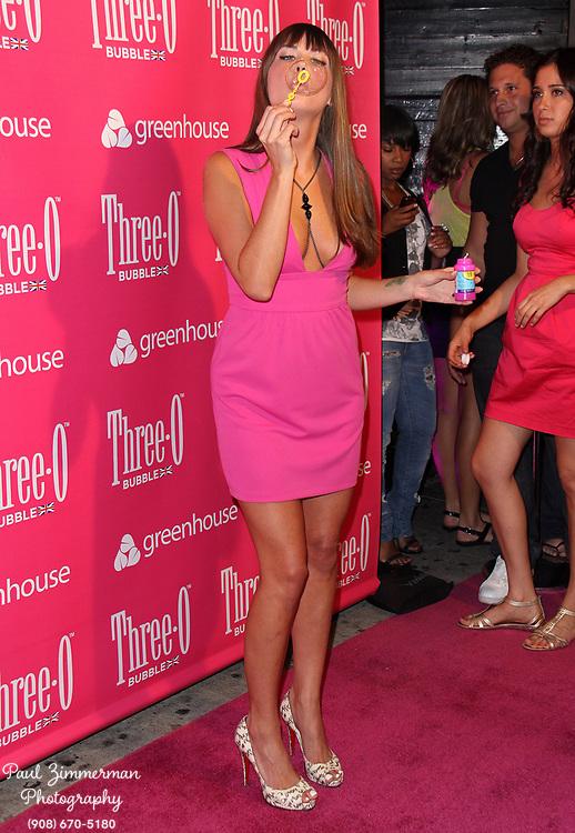 "10 June 2009 - New York, NY - Erin Lucas. Three-O Vodka ""Bubble"" launch Party hosted by Kim Kardashian held at Greenhouse. Photo Credit: Paul Zimmerman/AdMedia"