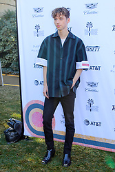 """Jan 4th, 2019. Palm Springs, ca. USA. Actor, Composer, TROYE SIVAN at the """"Variety Creative Impact Awards"""" held during the 30th Palm Springs International Film Festival. The Awards took place at the Parker Hotel. Photo by Dane Andrew c.2019 / Total Entertainment News. TEN.  408 666-8388  TenPressMedia@gmail.com"""