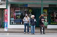 Locals wait to cross the road during COVID-19 in Kilmore, Australia. An outbreak which started in Chadstone in Melbourne, has spread as far as Benalla. Twenty-eight people linked to the outbreak have now tested positive for COVID-19. There are now two confirmed cases in Kilmore linked with a Melbourne Resident who carried the virus into the town. The person visited the Odd Fellows Cafe in Kilmore which lead to him spreading the virus to a staff member, and a customer. The cafe has been closed for deep cleaning and will remain closed until the 19th October. (Photo by Dave Hewison/Speed Media)