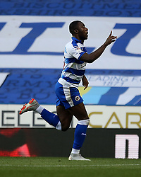 Reading's Yakou Meite celebrates scoring his side's first goal of the game