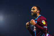 James Perch of Scunthorpe United (14) scores a goal and celebrates to make the score 1-0 during the EFL Sky Bet League 1 match between Scunthorpe United and Coventry City at Glanford Park, Scunthorpe, England on 5 January 2019.