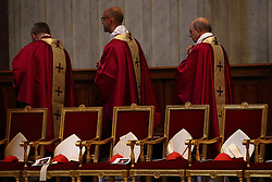 Apr 24, 2017 - Vatican City State (Holy See) - Cardinals of Roman Curia during the funeral service of Cardinal Attilio Nicora in St. Peter's Basilica a t the Vatican. (Credit Image: © Evandro Inetti via ZUMA Wire)