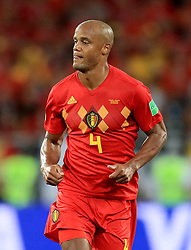 Belgium's Vincent Kompany during the FIFA World Cup Group G match at Kaliningrad Stadium. PRESS ASSOCIATION Photo. Picture date: Thursday June 28, 2018. See PA story WORLDCUP England. Photo credit should read: Adam Davy/PA Wire. RESTRICTIONS: Editorial use only. No commercial use. No use with any unofficial 3rd party logos. No manipulation of images. No video emulation