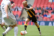 Morpeth Town Ben Sayer during the FA Vase match between Hereford FC  and Morpeth Town at Wembley Stadium, London, England on 22 May 2016. Photo by Dennis Goodwin.