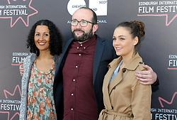 Edinburgh International Film Festival, Thursday, 21st June 2018<br /> <br /> Juror's Photocall<br /> <br /> Pictured: Miriam Bale, Alejandro Diaz Castano and Sophie Skelton make up the Shorts Jury<br /> <br /> (c) Aimee Todd | Edinburgh Elite media