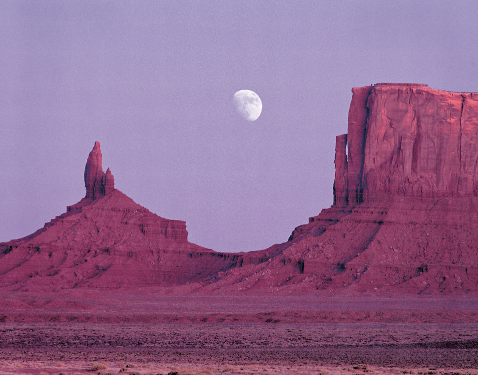 Moonset Over Monument Valley, Arizona