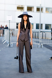 Street style, Yoyo Cao arriving at Chloe spring summer 2019 ready-to-wear show, held at Maison de la Radio, in Paris, France, on September 27th, 2018. Photo by Marie-Paola Bertrand-Hillion/ABACAPRESS.COM