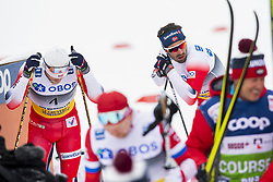 March 9, 2019 - Oslo, NORWAY - 190309 Martin Johnsrud Sundby and Hans Christer Holund of Norway look dejected after the men's 50 km classic technique during the FIS Cross-Country World Cup on March 9, 2019 in Oslo..Photo: Fredrik Varfjell / BILDBYRÃ…N / kod FV / 150211. (Credit Image: © Fredrik Varfjell/Bildbyran via ZUMA Press)