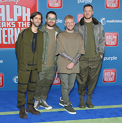 November 5, 2018 - Hollywood, California, U.S. - Imagine Dragons arrives for the 'Ralph Breaks the Internet' World Premiere at the El Capitan theater. (Credit Image: © Lisa O'Connor/ZUMA Wire)