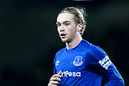 Tom Davies of Everton looks on. Premier league match, Everton v Leicester City at Goodison Park in Liverpool, Merseyside on Wednesday 31st January 2018.<br /> pic by Chris Stading, Andrew Orchard sports photography.