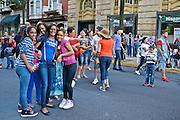 Hispanic Festival, Reading, Teen Girls' Fun, Berks Co., PA