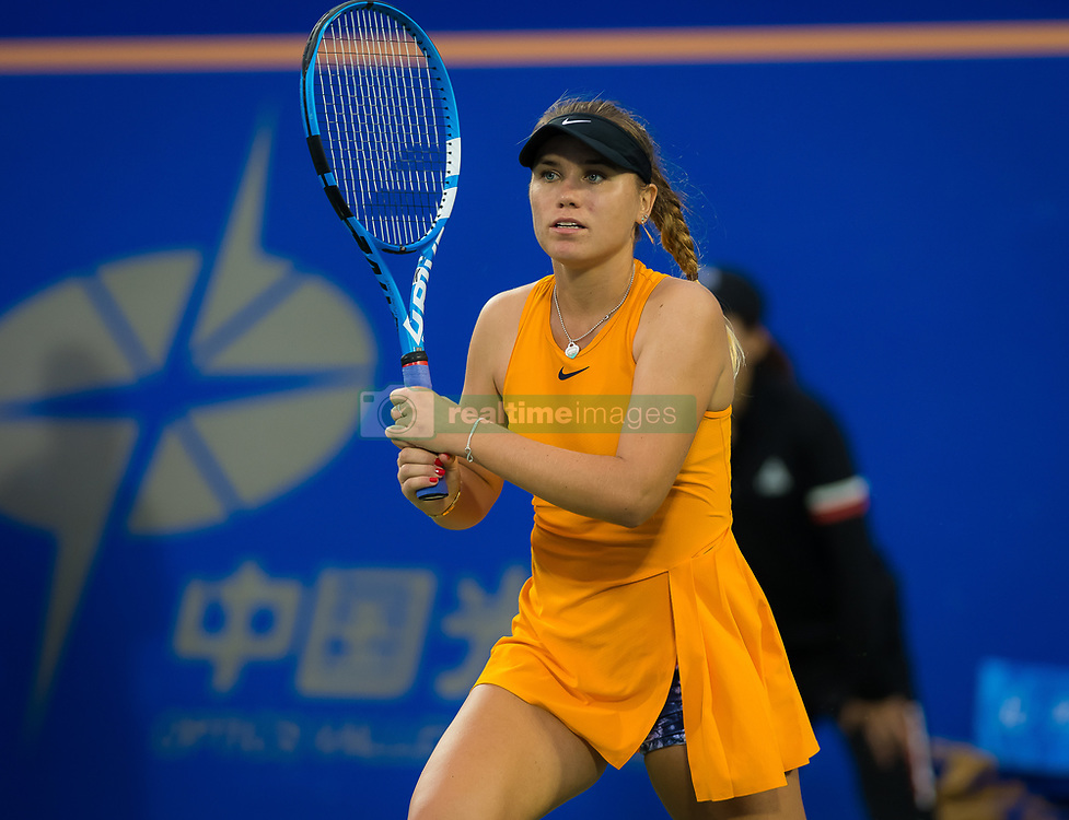 September 26, 2018 - Sofia Kenin of the United States in action during her third-round match at the 2018 Dongfeng Motor Wuhan Open WTA Premier 5 tennis tournament (Credit Image: © AFP7 via ZUMA Wire)