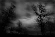 Tskhaltubo. dark winther evening