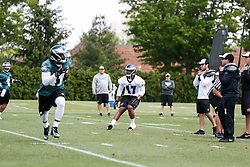 Philadelphia Eagles linebacker Anthony Larry #47 during the NFL football rookie camp at the teams practice facility on Saturday, May 17, 2014. (Photo by Brian Garfinkel)