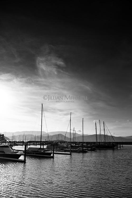 Views across Airlie Beach marina.