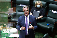 The Minister for the Health of Victoria Martin Foley  speaks during Question Time