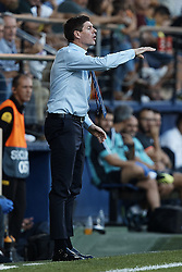 September 20, 2018 - Villarreal, Castellon, Spain - Steven Gerrard head coach of Rangers reacts during the UEFA Europa League group G match between Villarreal CF and Rangers at Estadio de la Ceramica on September 20, 2018 in Vila-real, Spain  (Credit Image: © David Aliaga/NurPhoto/ZUMA Press)