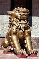 Lion statue in the Oscar Film Studios in Ouarzazate, Morocco.