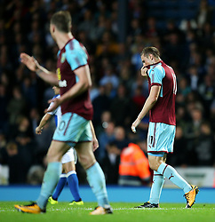 Burnley's Chris Wood reacts after missing a chance - Mandatory by-line: Matt McNulty/JMP - 23/08/2017 - FOOTBALL - Ewood Park - Blackburn, England - Blackburn Rovers v Burnley - Carabao Cup - Second Round