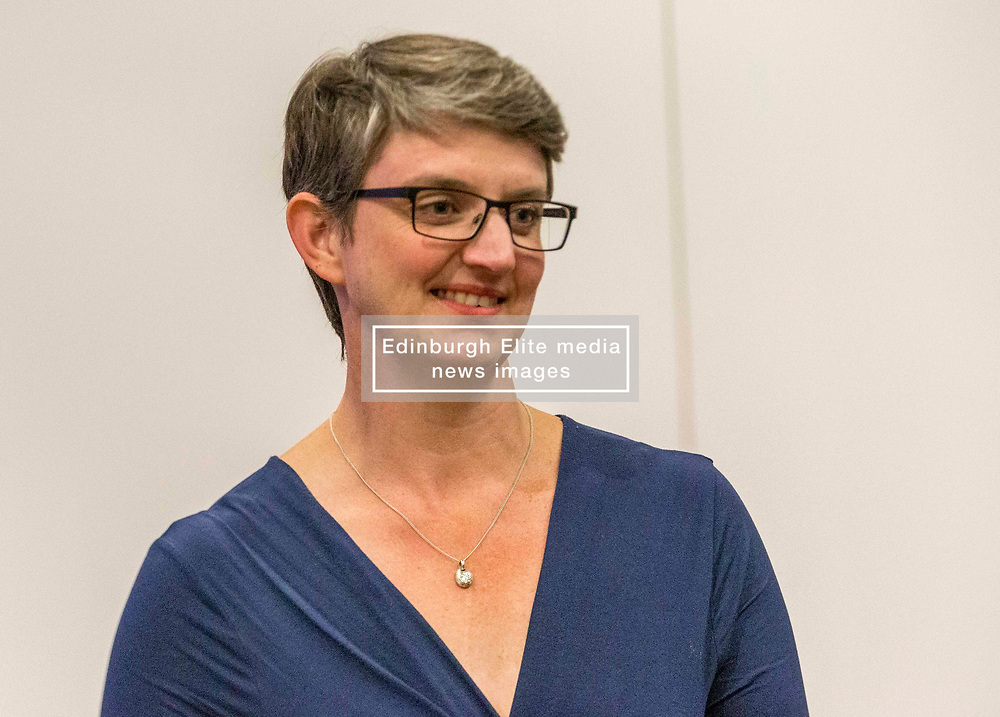 The counting of votes in the European Parliamentary Election for the City of Edinburgh counting area takes place at EICC, Morrison Street, Edinburgh. <br /> <br /> Pictured: Maggie Chapman, Co-convener of the Scottish Green Party and the lead candidate for the party in the election