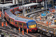 - Ten platforms are closed at waterloo Station for the whole of August for an upgrade to platforms.