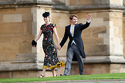 James Blunt arrives with his wife Sofia Wellesley for the wedding of Princess Eugenie to Jack Brooksbank at St George's Chapel in Windsor Castle.