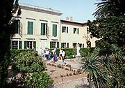Swan Hellenic tour group visiting Napoleon's house, Palazzina Dei Mulini, Portoferraio, island of Elba, Italy in 1999