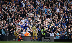 Sheffield Wednesday's Steven Fletcher celebrates scoring his side's first goal of the game