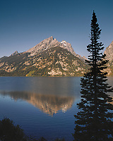 Early Morning Jenny Lake Reflections. Image taken with a Nikon D200 camera and 18-75 mm kit lens (ISO 100, 18 mm, f/5.6, 1/160 sec).