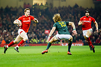 Rugby Union - 2017 Under Armour Series (Autumn Internationals) - Wales vs. South Africa<br /> <br /> Hallam Amos of Wales cuts inside to set up Wales' 1st try, at The Principality Stadium (Millennium Stadium), Cardiff.<br /> <br /> COLORSPORT/WINSTON BYNORTH