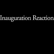 """STORY SUMMARY: Spectators watch the inauguration ceremony of Barack Obama on jumbotron screens on the National Mall, January 20, 2009. Obama took the oath as the nation's 44th, and first African-American, President.     ltqmb   """"Faces 1"""""""
