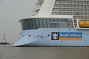 SHANGHAI, CHINA - JUNE 24: (CHINA OUT) <br /> <br /> Quantum Of The Seas Arrives In Shanghai<br /> <br /> The Quantum of the Seas cruise ship, operated by Royal Caribbean Cruises Ltd., arrives at Wusong International Cruise Port on June 24, 2015 in Shanghai, China. The ship will sail from Shanghai to Japan and South Korea on Thursday. <br /> ©Exclusivepix Media