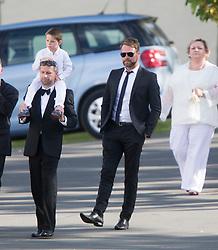 Brian McFadden. Ronan Keating wedding to Storm Uechtritz at Archerfield today.