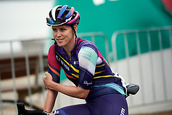 Tiffany Cromwell (AUS) waits for sign on at the 2020 Cadel Evans Great Ocean Road Race - Deakin University Women's Race, a 121 km road race in Geelong, Australia on February 1, 2020. Photo by Sean Robinson/velofocus.com