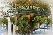 Strossmayer Promenade in old town Gradec, Zagreb, Croatia