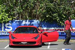 July 4, 2017 - St Germain En Laye, France, France - arrivee de MARQUINHOS (PSG) dans sa Ferrari.nettoyeur de voiture du PSG (Credit Image: © Panoramic via ZUMA Press)