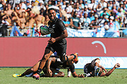 Vilimoni Koroi makes a break with the line in sight during Day 3 of the HSBC World Rugby Sevens, Mens Semi Final match between New Zealand and Fiji, 2019, Spotless Stadium, Saturday 3rd February 2019. Copyright Photo: David Neilson / www.photosport.nz