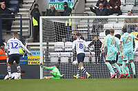 Preston North End's Declan Rudd concedes Queens Park Rangers' second goal<br /> <br /> Photographer Mick Walker/CameraSport<br /> <br /> The EFL Sky Bet Championship - Preston North End v Queens Park Rangers - Saturday 7th March 2020 - Deepdale Stadium - Preston<br /> <br /> World Copyright © 2020 CameraSport. All rights reserved. 43 Linden Ave. Countesthorpe. Leicester. England. LE8 5PG - Tel: +44 (0) 116 277 4147 - admin@camerasport.com - www.camerasport.com