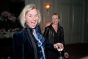;COUNTESS DORA DELLA GHEREDESCA; GEORGIA CHANNON, The Dowager Duchess od Devonshire and Catherine Ostler editor of the Tatler host a party to celebrate Penguin's reissue of Nancy Mitford's ' Wigs on the Green.'  The French Salon. Claridge's. London. 10 March 2010.