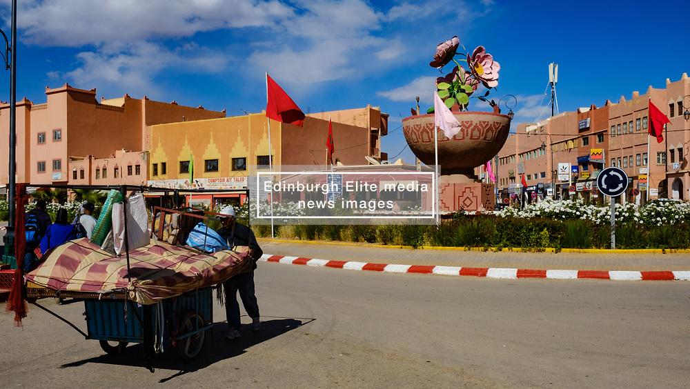 Street scene in El Kelaa Des M'Gouna, the rose capital of Morocco<br /> <br /> (c) Andrew Wilson   Edinburgh Elite media
