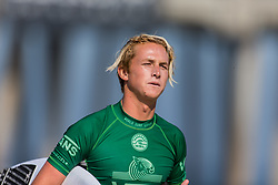 July 31, 2018 - Huntington Beach, California, United States - Huntington Beach, CA - Tuesday July 31, 2018: Finn McGill in action during a World Surf League (WSL) Qualifying Series (QS) Men's round of 96 heat at the 2018 Vans U.S. Open of Surfing on South side of the Huntington Beach pier. (Credit Image: © Michael Janosz/ISIPhotos via ZUMA Wire)