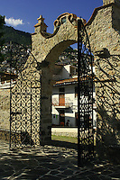 """Mexican Wrought Iron Gate - Taxco de Alarcon (usually referred to as simply """"Taxco"""") is a small city located in the Mexican state of Guerrero. The name Taxco is most likely derived from the Nahuatl word tlacheco which means """"place of the ballgame."""""""