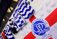 Photo: Leigh Quinnell.<br /> Queens Park Rangers v Southampton. Coca Cola Championship. 01/09/2007.<br /> Fans leave flags and kit outside Loftus Road to pay tribute to QPR player Ray Jones, after he died in a car crash.
