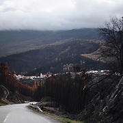 In some cases the wildfires also reached villages, and Álvaro was severelly hit with dozens of destroyed houses.