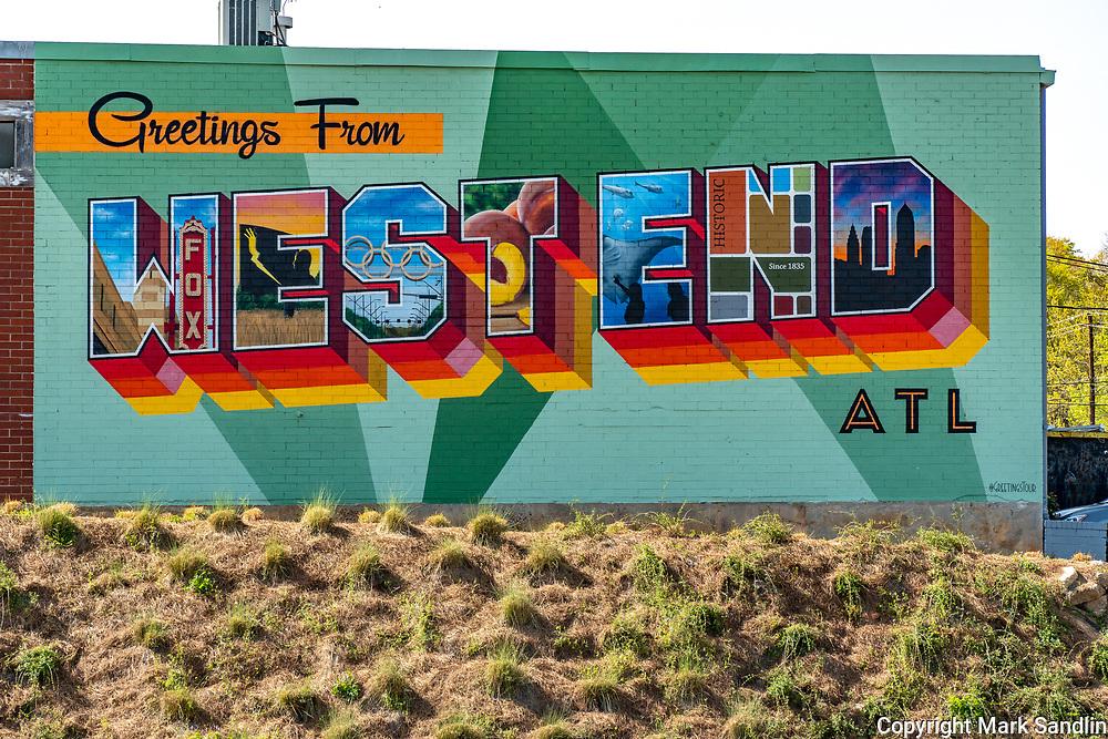 mural on side of building on Atlanta Westside