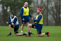 Ed Holmes and Jake Heenan of Bristol Bears in action during a training session - Rogan/JMP - 04/03/2021 - RUGBY UNION - Bristol Bears High Performance Centre - Bristol, England.