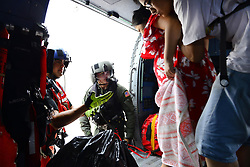 Aug 27, 2017 - Houston, Texas, U.S. - Coast Guard Air Station Houston responds to search and rescue requests after Hurricane Harvey in Houston, Texas, Aug. 27, 2017. The Coast Guard is working closely with all local and state emergency operation centers and has established incident command posts to manage Coast Guard storm operations. (Credit Image: ? Johanna Strickland/US Coast Guard via ZUMA Wire/ZUMAPRESS.com)