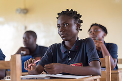 4 November 2019, Vriginia, Liberia: Students attend English class at Ricks Institute. The Liberia Baptist Convention runs Ricks Institute, a day and boarding school for currently 496 students from kindergarten up through 12th grade.